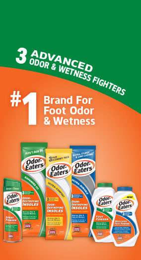 3 Advanced odor & wetness fighters. #1 brand for foot odor and wetness
