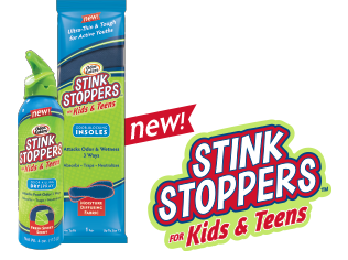 New! Stink Stoppers for Kids and Teens.